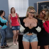 Aubrey Addams & Chloe Addison   Big Tits At School